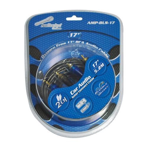 Audiopipe Oxygen Free RCA Audio Cable 17 Ft