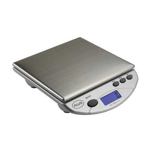 American Weigh Scales Silver AMW13-SL Digital Postal Kitchen Scale 13 LB by 0.1 OZ