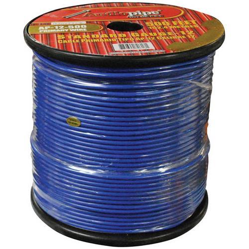 Audiopipe 12 Gauge 500Ft Primary Wire Blue