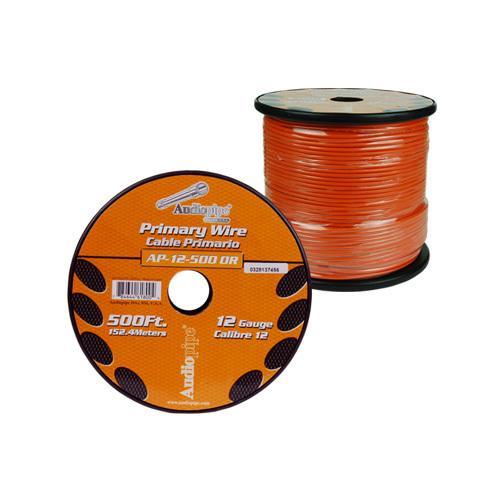 Audiopipe 12 Gauge 500Ft Primary Wire Orange