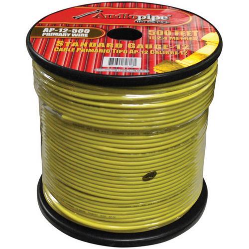 Audiopipe 12 Gauge 500Ft Primary Wire Yellow