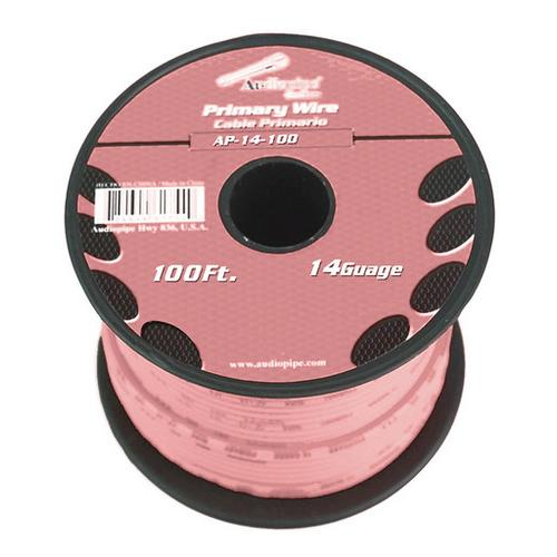 Audiopipe 14 Gauge 100Ft Primary Wire pink