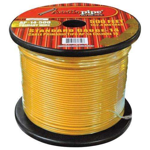 Audiopipe 14 Gauge 500Ft Primary Wire Yellow