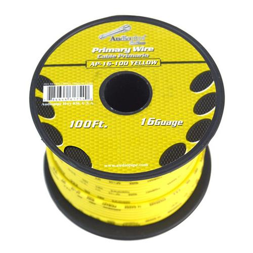 Audiopipe 16 gauge 100ft Yellow primary wire