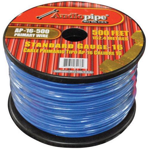 Audiopipe 16 Gauge 500Ft Primary Wire Blue