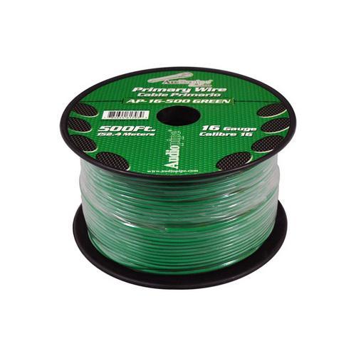 Audiopipe 16 Gauge 500Ft Primary Wire Green