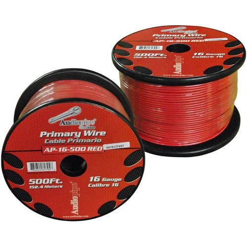 Audiopipe 16 Gauge 500Ft Primary Wire Red