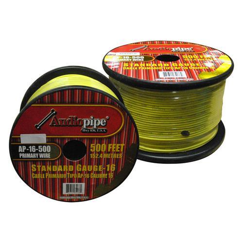 Audiopipe 16 Gauge 500Ft Primary Wire Yellow