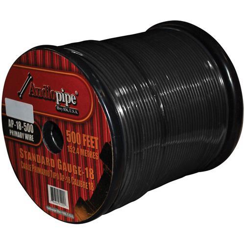 REMOTE WIRE AUDIOPIPE 18GA 500' BLACK