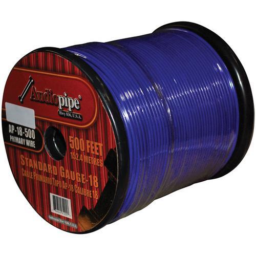 (PW18) AUDIOPIPE 18GA WIRE 500' BLUE