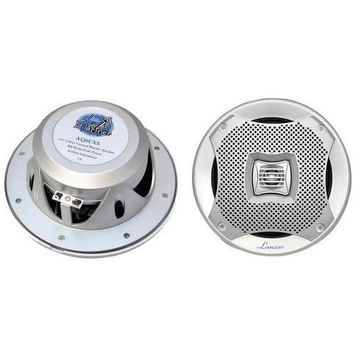 """Lanzar Marine 6.5"""" 2-Way Speakers (Silver)"""