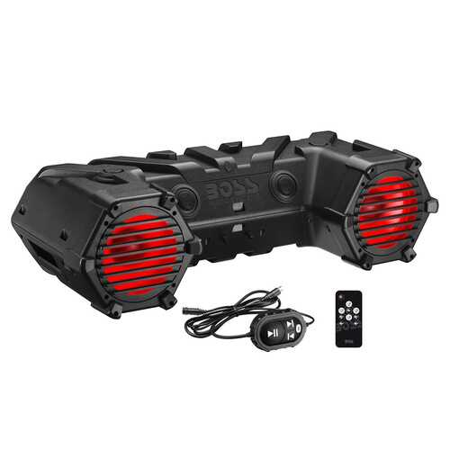 "Boss Amplified Bluetooth 8"" Marine Speaker RGB Lighting & LED Light Bar"