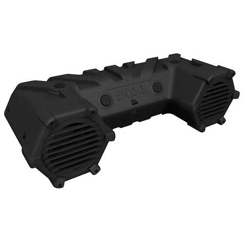 "Boss ATV Sound System 8"" Marine Speakers Bluetooth Dual LED Light Bar"