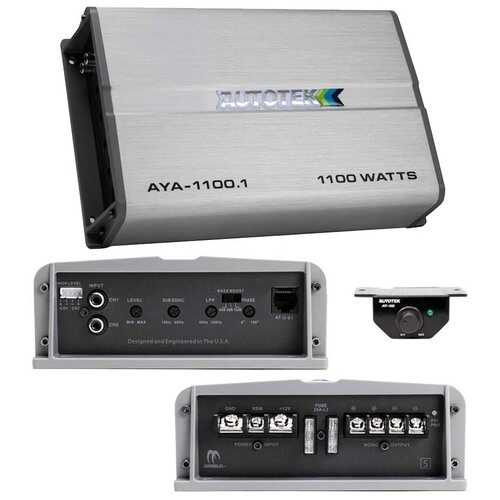 Autotek Alloy Amplifier Mono 1100 Watts Max 2 ohm