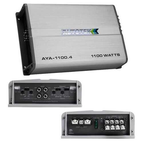 Autotek Alloy Amplifier 4 Channel 1100 Watts Max 2 ohm