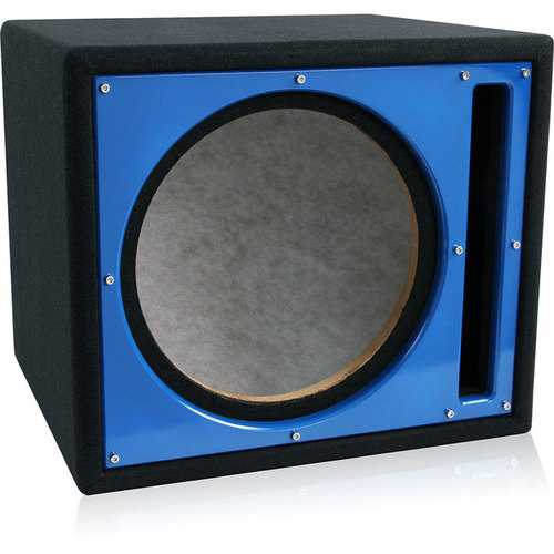 "Belva Single 10"" Ported Empty Enclosure Blue Face"