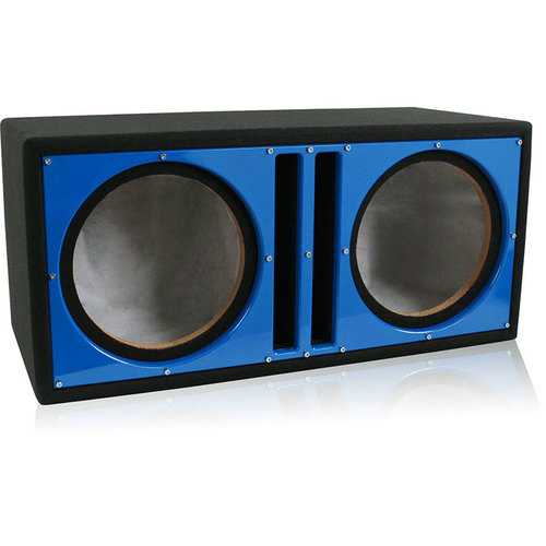"Belva Dual 10"" Ported Empty Enclosure Blue Face"
