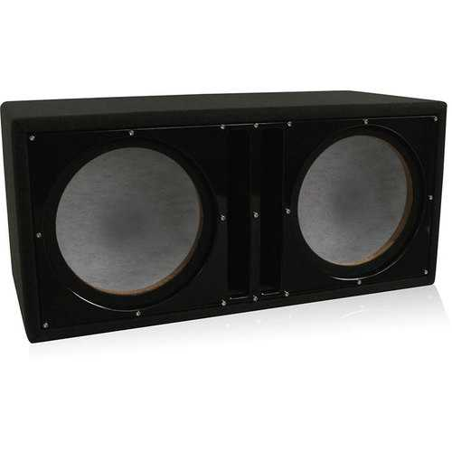 "Belva Dual 12"" Ported Empty Enclosure Black Face"