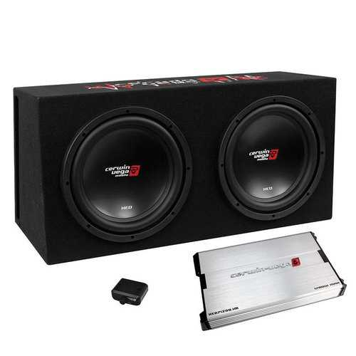 "Cerwin Vega XED  3000W MAX Basskit Dual 12"" loaded vented 3/4"" MDF w/1000W MAX amp"