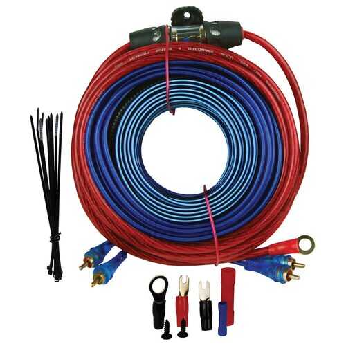 AUDIOPIPE 8 Gauge Amplifier Wiring Kit - 1500WATTS W/RCA CABLES