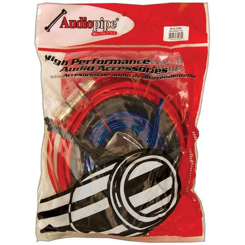 Amp wiring kit Audiopipe 4GA up to 2100watts * BMS2100SX *poly bag*
