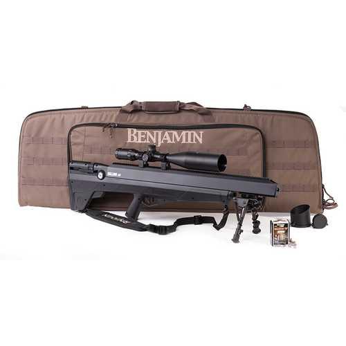 Benjamin Bulldog Value Pack (Black) Air Rifle with 4-16x56 Scope Benjamin Case 25 ct Ammo Sling