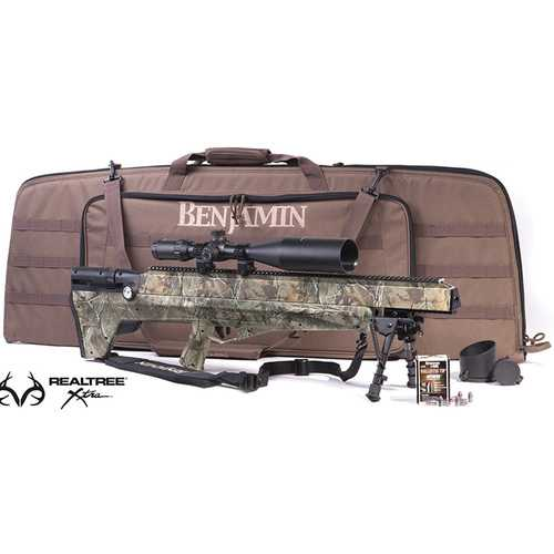 Benjamin Value Pack (Real Tree Xtra Camo) MultiShot Bolt Action Rifle and More