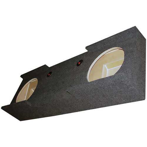 "EMPTY WOOFER BOX QPOWER DUAL 12"" GMC CREW CAB '07-'13"