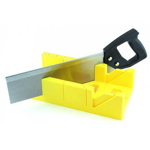 GreatNeck 12 Inch Mitre Box with 14 Inch Back Saw