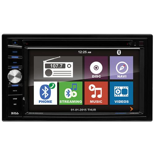 "Boss 6.2"" DDin Receiver Navigation Bluetooth DVD/CD Remote"