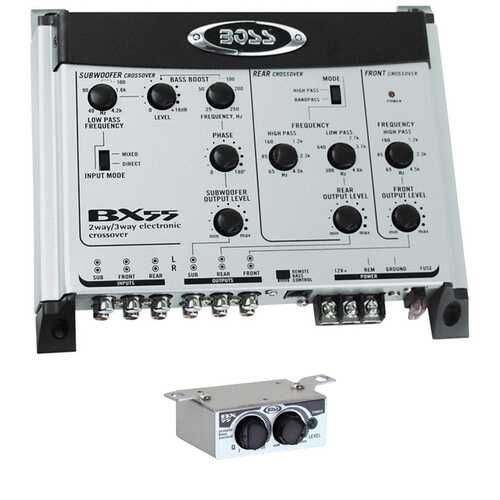 Boss 2/3 Way electronic Crossover remote woofer level control