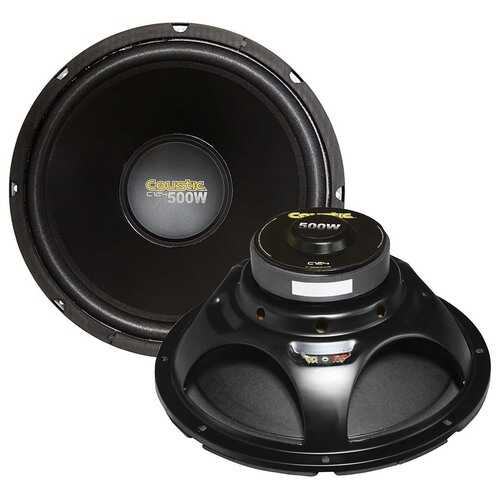 Coustic 12´´ Woofer 250W RMS/500W Max Single 4 Ohm Voice Coil