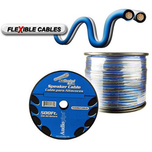 Audiopipe 12 Gauge Flexible Speaker Cable 500Ft