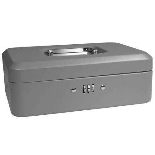 "Barska 10"" Cash Box with Combination Lock Grey"