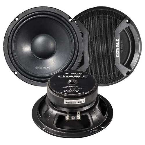 """Orion 6.5"""" Midbass 500W Max with Grills (pair)"""
