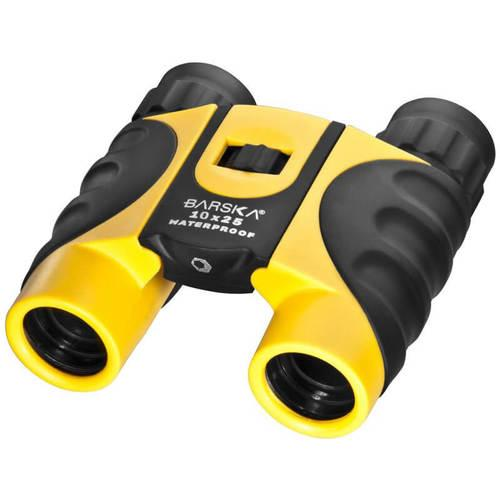 Barska 10X25  Colorado Yellow Waterproof Compact Binoculars Blue Lens