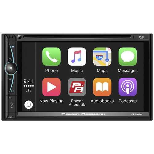 "Power Acoustik D.Din 7"" Touchscreen Android Auto Apple Car Play AM/FM/CD/BT"