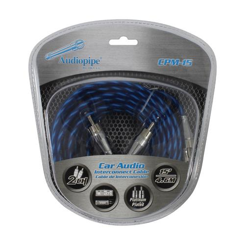 Audiopipe Platinum Plated Interconnect Cable 15ft