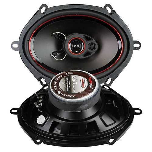 "AUDIOPIPE SPEAKER 5X7"" 3-WAY (pair) 250 WATT PP CONE"