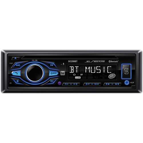 Dual Single-DIN In-Dash CD AM/FM Receiver with Bluetooth