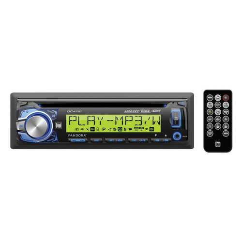 """Dual MP3/WMA CD Receiver w/Direct USB for iPod/iPhone Large 3.7"""" Wide 10 Character LCD"""