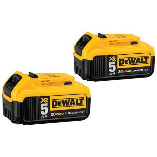 DEWALT 20V MAX XR 5.0AH LITHIUM ION BATTERY (2-Pack)