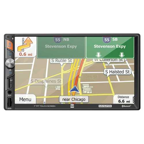 """Dual 7"""" Double Din Mechless Digital Media Receiver with Built-in Navigation"""