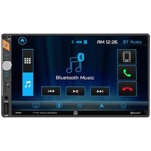 """Dual 7"""" LCD Mechless Double Din BT USB/Micro SD Backup Cam Input"""