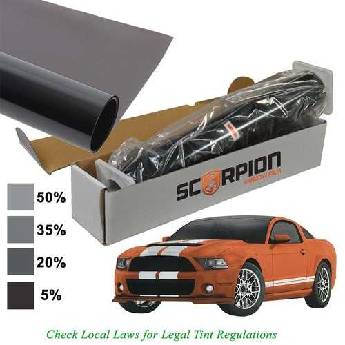 "Scorpion Window Tint Desert Series 2 ply 15% 36""x 100' roll 2 ply Extruded Dye Lifetime Warranty"