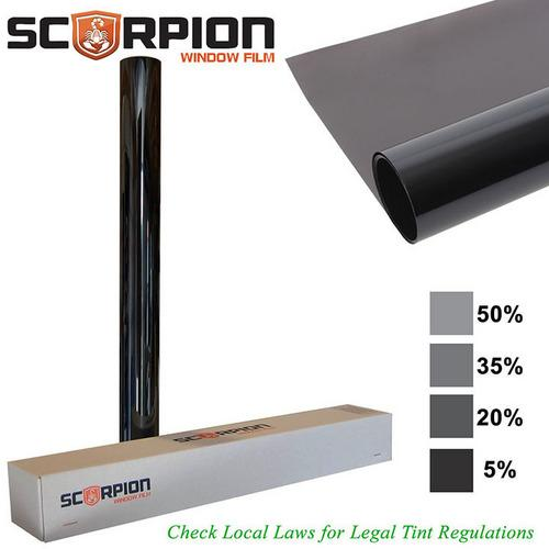 "Scorpion Window Tint Desert Series 2 ply 5% 40""x 100' roll 2 ply Extruded Dye Lifetime Warranty"