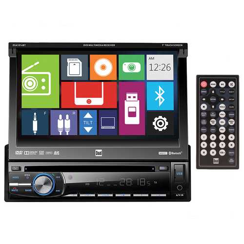 Dual DVD Multimedia Receiver 7 Inch Touch Screen Display