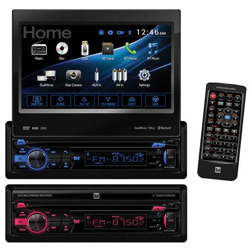 "DUAL 7"" MOTORIZED TOUCH SCREEN DVD BLUETOOTH 1A USB HDMI ANDROID 2-WAY"