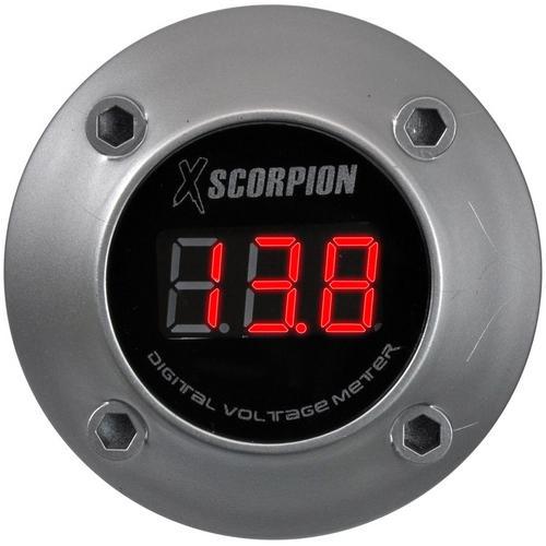 XSCORPION VOLTMETER DIGITAL 3 DIGIT LED DISPLAY SILVER
