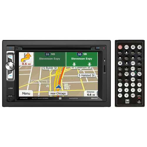 "Dual Double Din DVD/CD 6.2"" iGo Navigation BT 1A Front USB App (Android Apple Blackberry)"